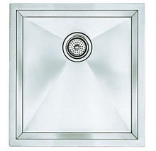 "Blanco 516209 Undermount 19"" x 18"" Single Bowl Kitchen Sink - Stylish Drain Grooves - Stainless"