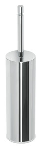 Valsan PX167ES Axis Satin Nickel Freestanding Toilet Brush Holder