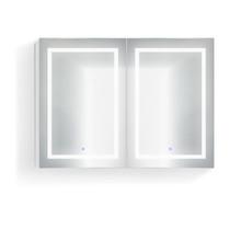 Krugg Svange4836D Double LED Medicine Cabinet 48 Inch x 36 Inch w/Dimmer & Defogger