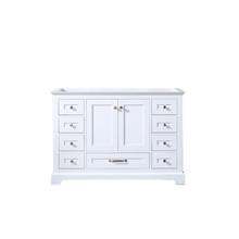 Lexora Dukes 48 Inch White Vanity Cabinet Only