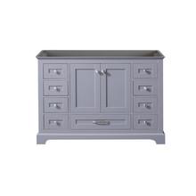 Lexora Dukes 48 Inch Dark Grey Vanity Cabinet Only