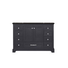 Lexora Dukes 48 Inch Espresso Vanity Cabinet Only