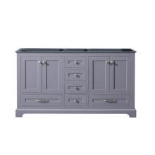 Lexora Dukes 60 Inch Dark Grey Vanity Cabinet Only