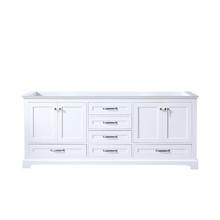 Lexora Dukes 80 Inch White Vanity Cabinet Only
