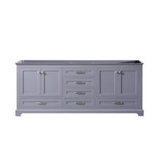 Lexora Dukes 80 Inch Dark Grey Vanity Cabinet Only