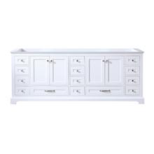 Lexora Dukes 84 Inch White Vanity Cabinet Only