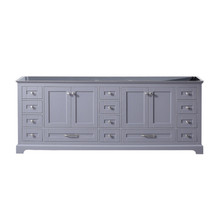 Lexora Dukes 84 Inch Dark Grey Vanity Cabinet Only