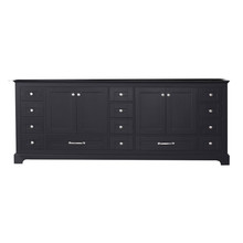 Lexora Dukes 84 Inch Espresso Vanity Cabinet Only