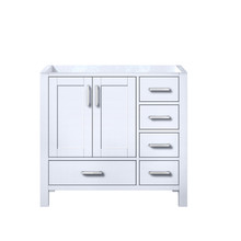 Lexora Jacques 36 Inch White Vanity Cabinet Only - Left Version