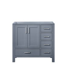 Lexora Jacques 36 Inch Dark Grey Vanity Cabinet Only - Left Version