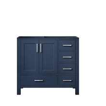 Lexora Jacques 36 Inch Navy Blue Vanity Cabinet Only - Left Version