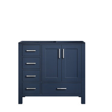 Lexora Jacques 36 Inch Navy Blue Vanity Cabinet Only - Right Version