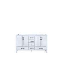 Lexora Jacques 60 Inch White Vanity Cabinet Only