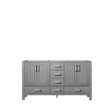 Lexora Jacques 60 Inch Distressed Grey Vanity Cabinet Only