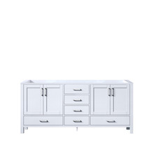 Lexora Jacques 72 Inch White Vanity Cabinet Only