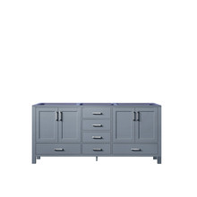 Lexora Jacques 72 Inch Dark Grey Vanity Cabinet Only