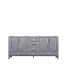 Lexora Jacques 72 Inch Distressed Grey Vanity Cabinet Only