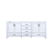Lexora Jacques 80 Inch White Vanity Cabinet Only
