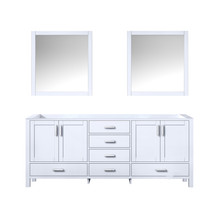 Lexora Jacques 80 Inch White Double Vanity, no Top and 30 Inch Mirrors