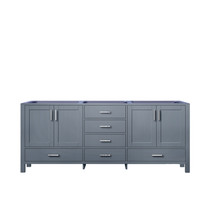 Lexora Jacques 80 Inch Dark Grey Vanity Cabinet Only