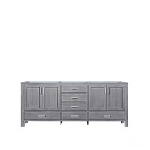 Lexora Jacques 80 Inch Distressed Grey Vanity Cabinet Only
