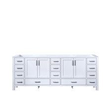 Lexora Jacques 84 Inch White Vanity Cabinet Only