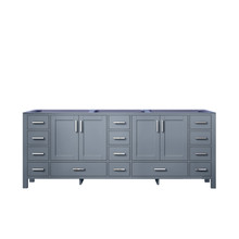 Lexora Jacques 84 Inch Dark Grey Vanity Cabinet Only