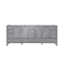 Lexora Jacques 84 Inch Distressed Grey Vanity Cabinet Only