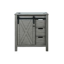 Lexora Marsyas 30 Inch Ash Grey Vanity Cabinet Only