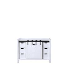 Lexora Marsyas 48 Inch White Vanity Cabinet Only