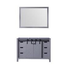Lexora Marsyas 48 Inch Dark Grey Single Vanity, no Top and 44 Inch Mirror