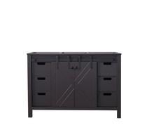 Lexora Marsyas 48 Inch Brown Vanity Cabinet Only