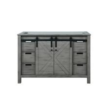 Lexora Marsyas 48 Inch Ash Grey Vanity Cabinet Only