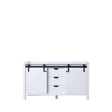 Lexora Marsyas 60 Inch White Vanity Cabinet Only