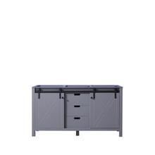 Lexora Marsyas 60 Inch Dark Grey Vanity Cabinet Only