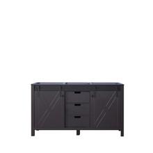 Lexora Marsyas 60 Inch Brown Vanity Cabinet Only