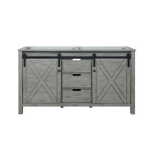 Lexora Marsyas 60 Inch Ash Grey Vanity Cabinet Only