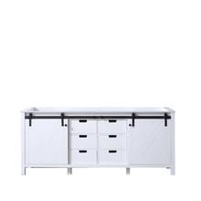 Lexora Marsyas 80 Inch White Vanity Cabinet Only