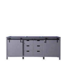 Lexora Marsyas 80 Inch Dark Grey Vanity Cabinet Only