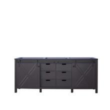 Lexora Marsyas 80 Inch Brown Vanity Cabinet Only