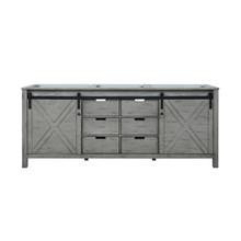 Lexora Marsyas 80 Inch Ash Grey Vanity Cabinet Only
