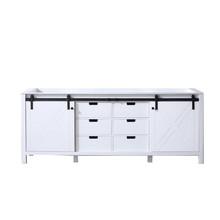 Lexora Marsyas 84 Inch White Vanity Cabinet Only