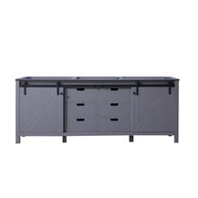 Lexora Marsyas 84 Inch Dark Grey Vanity Cabinet Only