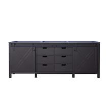 Lexora Marsyas 84 Inch Brown Vanity Cabinet Only