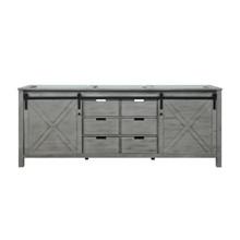 Lexora Marsyas 84 Inch Ash Grey Vanity Cabinet Only