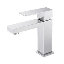 Lexora Monte Stainless Steel Single Hole Bathroom Faucet - Chrome