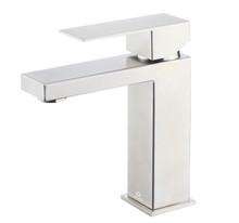 Lexora Monte Stainless Steel Single Hole Bathroom Faucet - Satin Nickel