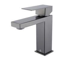 Lexora Monte Stainless Steel Single Hole Bathroom Faucet - Gun Metal