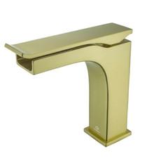 Lexora Balzani Brass Single Hole Waterfall Bathroom Faucet - Brushed Brass