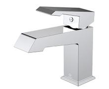 Lexora Labaro Brass Single Hole Bathroom Faucet - Chrome